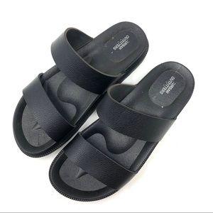 Urban Outfitters Black Slide Platform Sandals